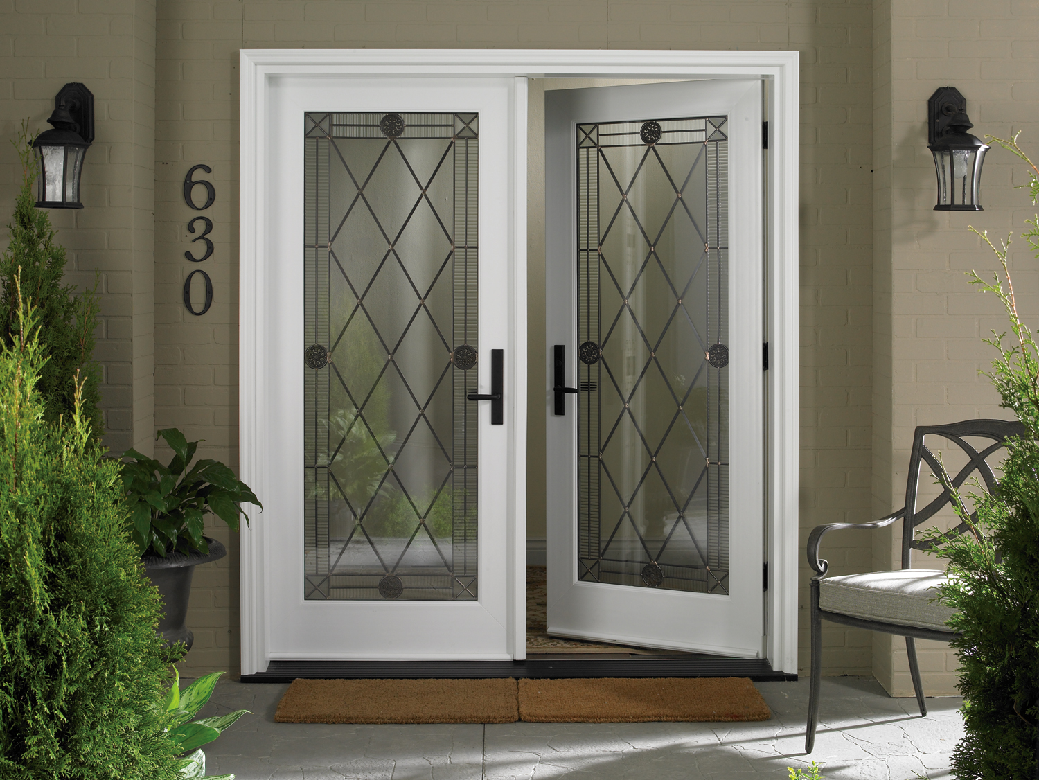Entry door options toronto stained glass locks for Front door with opening window