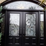 Steel door in black