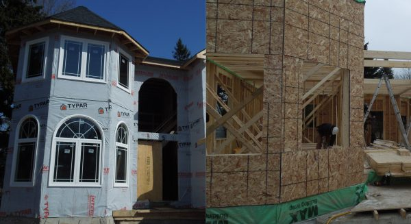 Comparing progress on the new home build